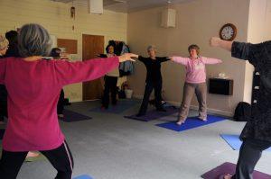 Gentle yoga movements