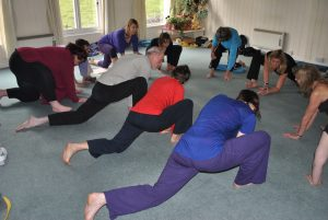 Early days  Yoga class at the Wheel of Life Centre, Malvern
