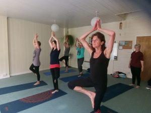 Yoga class activity