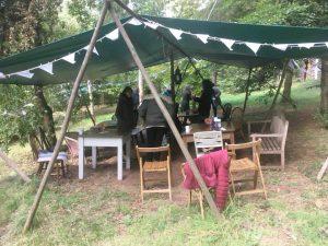 Tea time on the woodland retreat