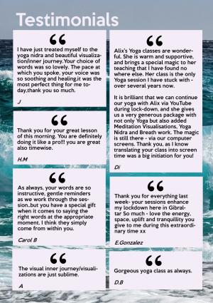 Some online testimonials
