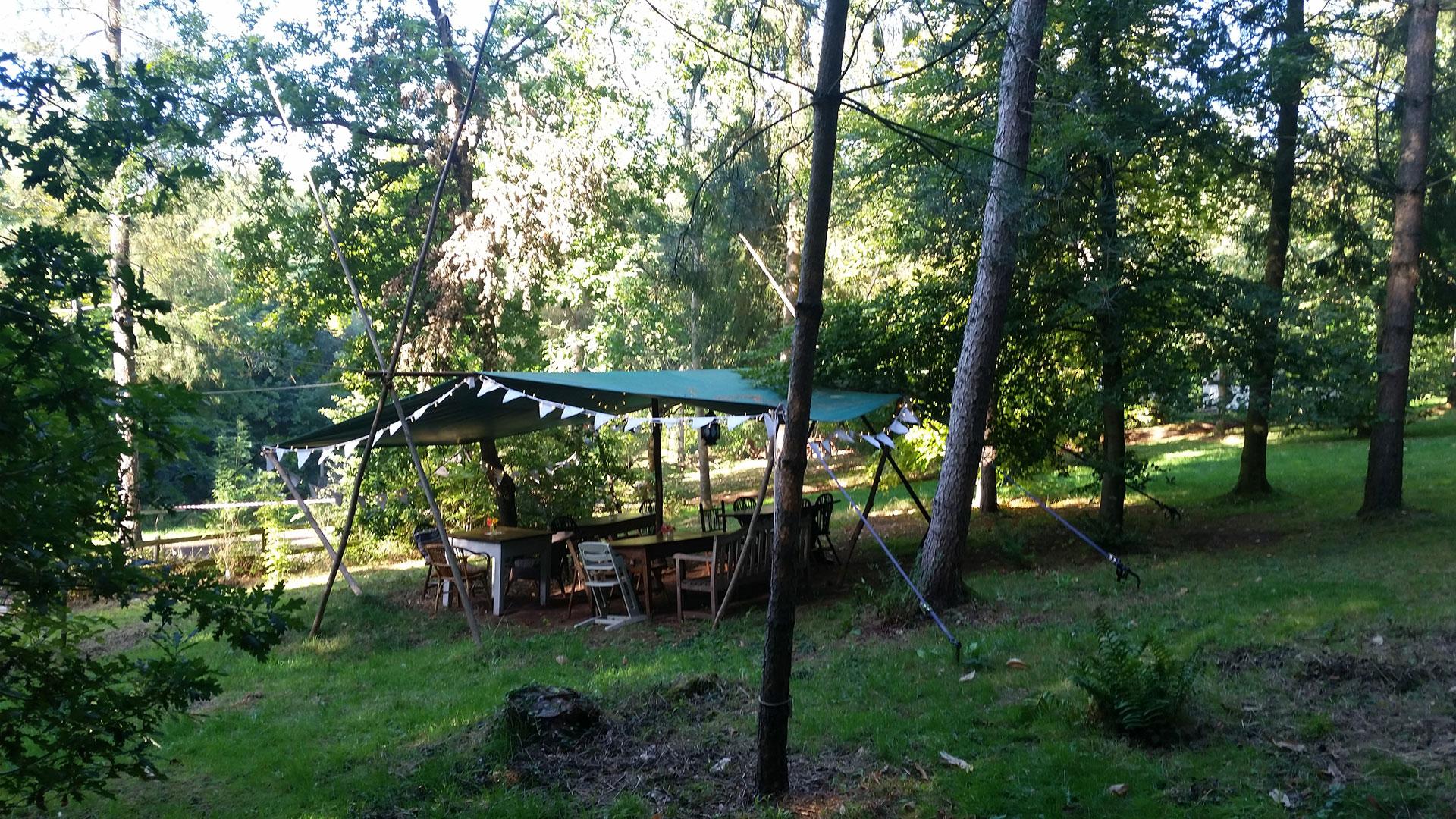 Woodsman's awning