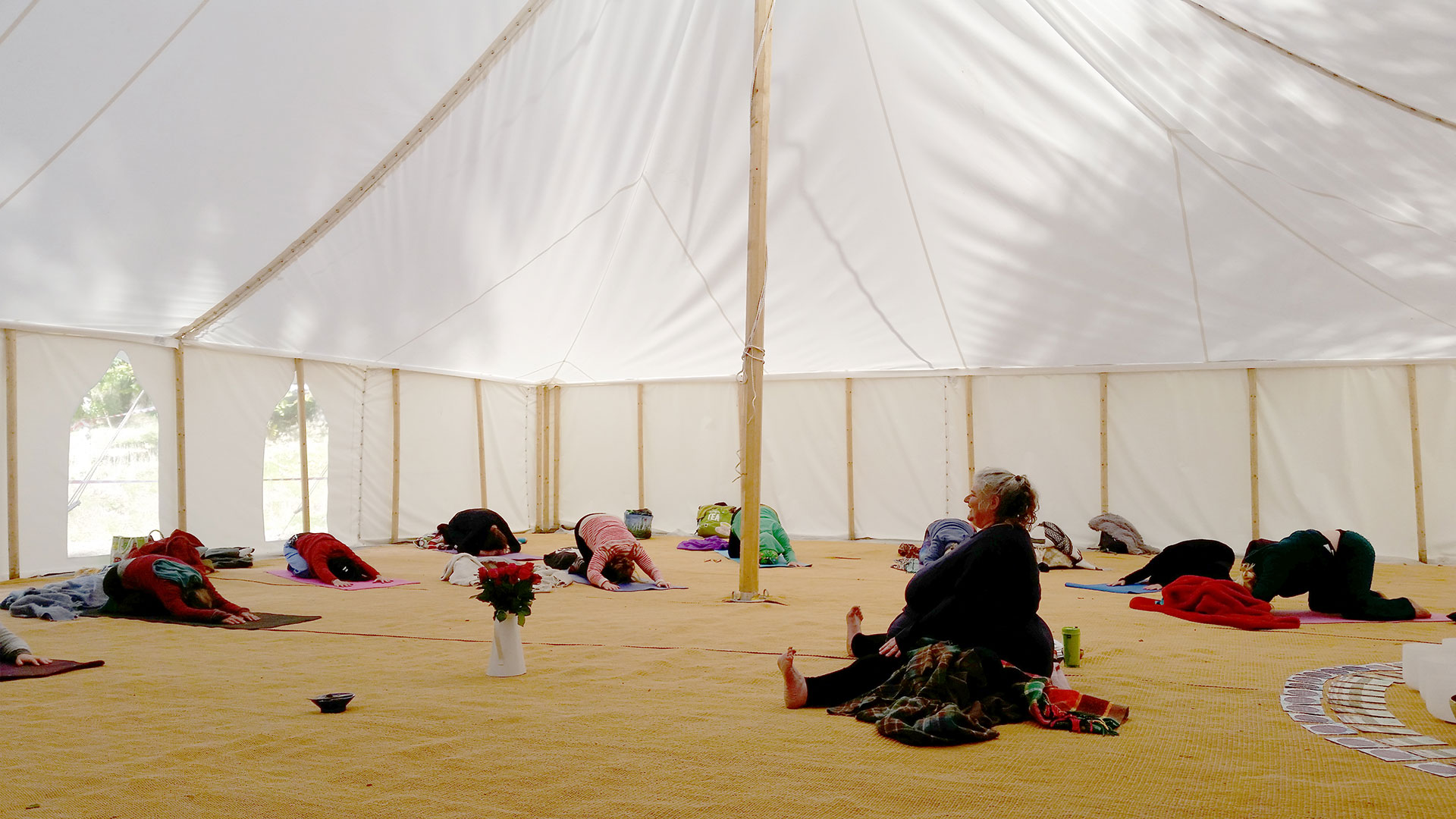 More yoga in in the marquee